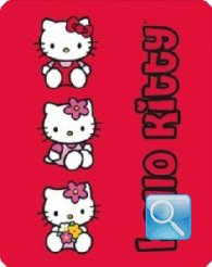 plaid hello kitty flower rosso