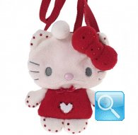 Borsa Plush Bag hello kitty marshmallow red