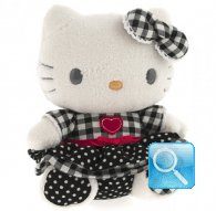 pupazzo hello kitty plush i love you black