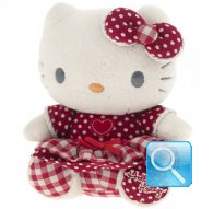 pupazzo hello kitty plush i love you red