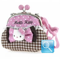 Pochette clic clac Hello Kitty Pink & Brown