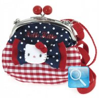 Borsa Pochette clic clac Hello Kitty Red&Blue