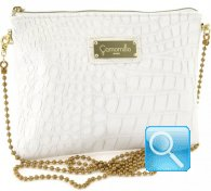pochette camomilla milano clutch bag -M- white