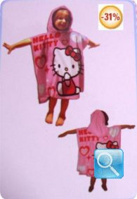 poncho hello kitty rosa scuro