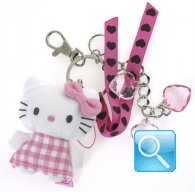 Porta chiavi hello kitty pink&brown