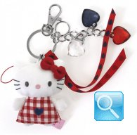 Portachiave Peluche Hello Kitty red&blue 