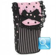 porta fazzoletti camomilla black&pink