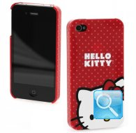 Custodia hello kitty Iphone 4g pois Red