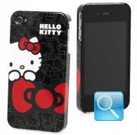 porta i-phone 4 hello kitty ribbon black