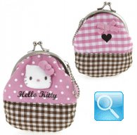 Portamonete Hello Kitty Pink & Brown
