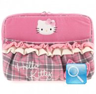 Porta Pc Hello Kitty -L- Pink Tartan