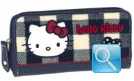 Portafoglio Campus Hello Kitty - L - Blue