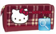 Portafoglio Campus Hello Kitty - L - Red