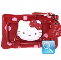 portafoglio hello kitty rosso pochette