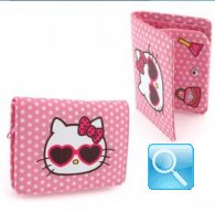 portafoglio hello kitty M dotty d.pink