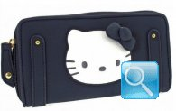 Portafoglio Pop Up Hello Kitty - L - Blue