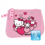 Portamonete Hearts Light Pink Hello Kitty