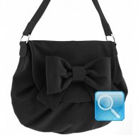 borsa postina ribbon black