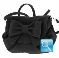 borsa camomilla pouch bag ribbon black