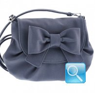 borsa camomilla pouch bag ribbon d.blue