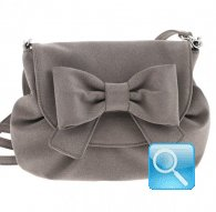 borsa camomilla pouch bag ribbon l.brown