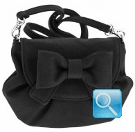 borsa camomilla pouch bag s ribbon black