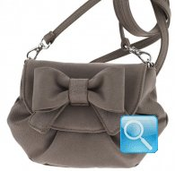 borsa camomilla pouch bag s ribbon l.brown
