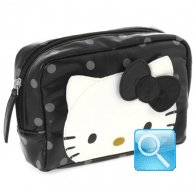 borsa pouch city hello kitty black