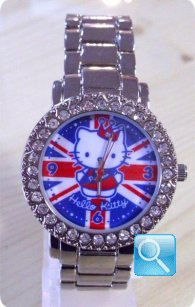 orologio hello kitty Princess Kitty British Flag with all of Kitty