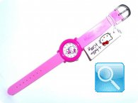 orologio hello kitty round case fuxia