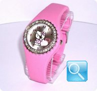 orologio hello kitty silicon diamante rosa
