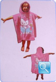 poncho hello kitty rosa