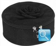 beauty rounded box fiori e lustrini camomilla milano L nero
