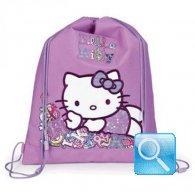 zaino sacchetto asilo hello kitty viola nuova collezione 2013