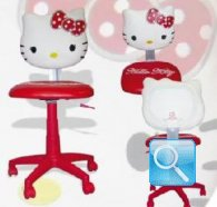 sedia hello kitty rossa
