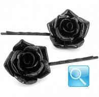 molletta camomilla glitter flower black