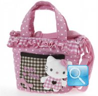 Borsa Shopper Hello Kitty con Tracolla Pink & Brown