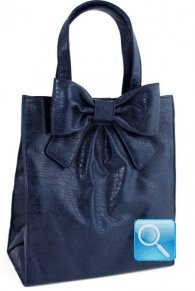 Shopper Ribbon L Blue