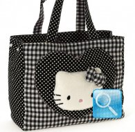 borsa hello kitty shopper L i love you black