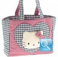 borsa hello kitty shopper L i love you pink