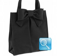 borsa camomilla shopper L ribbon black