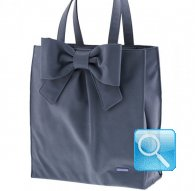 borsa camomilla shopper L ribbon d.blue
