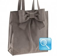 borsa camomilla shopper L ribbon l.brown