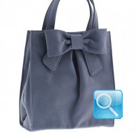 borsa camomilla shopper m ribbon d.blue