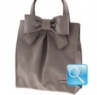 borsa camomilla shopper m ribbon l.brown