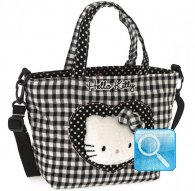 borsa hello kitty shopper S i love you black