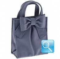 borsa camomilla shopper s ribbon d.blue