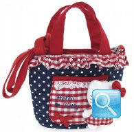 Borsa Shopper Hello Kitty w-Tracolla red&blue