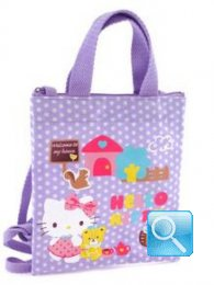 borsa hello kitty shopper XS dotty lilac