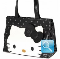 borsa shoulder bag city hello kitty black